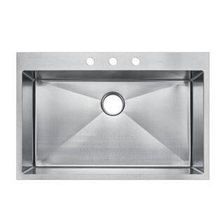 ... Steel 30-inch x 22-inch Single-bowl Top-mount Drop-in Kitchen Sink