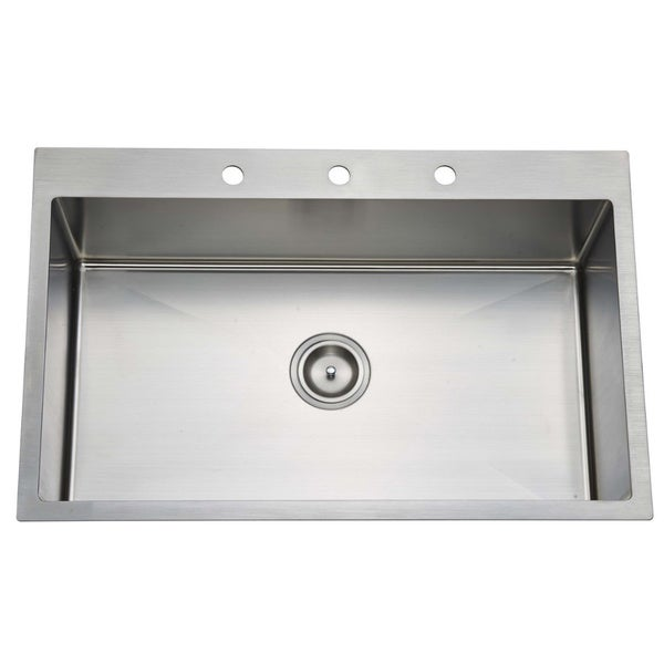 30 Stainless Steel Sink : Starstar 16-gauge Stainless Steel 30-inch x 22-inch x 9-inch Top-mount ...