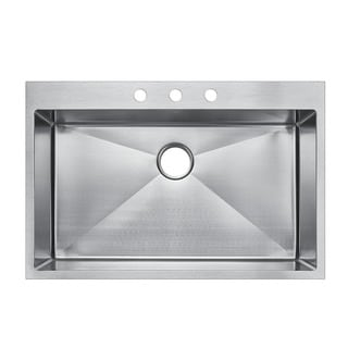 Starstar Stainless Steel 33-inch x 22-inch Top-mount Single Bowl Kitchen Sink