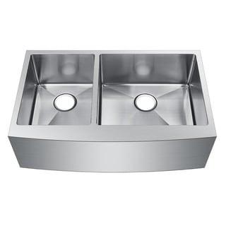 Starstar Stainless Steel Double-bowl Farmhouse Apron Undermount Kitchen Sink