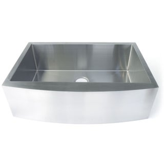 Starstar Silver Stainless Steel 33-inch x 20-inch 16-gauge Undermount Farmhouse Apron Single Bowl Kitchen Sink