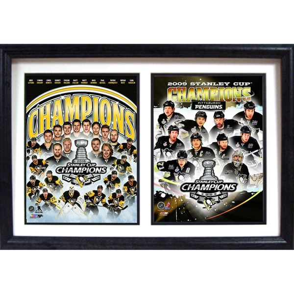 2016 Stanley Cup Champions Pittsburgh Penguins 12x18 Double Frame 19240745