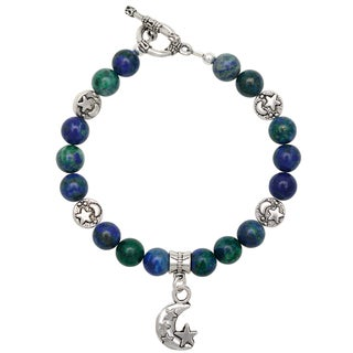 Healing Stones for You Azurite with Malachite Celestial Bracelet