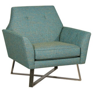 Justine Green Polyester/Metal Accent Chair