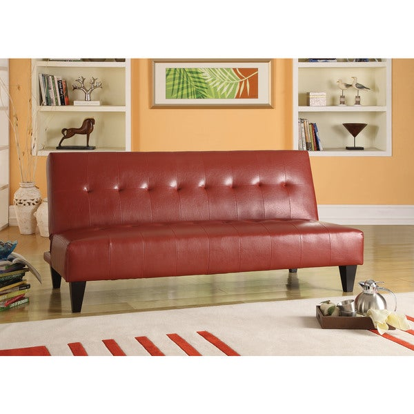 Conrad Adjustable Sofa, Red PU