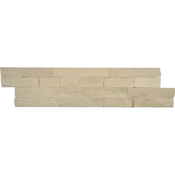 Split-face Ledger White Stone Tile (Box of 5 Tiles)