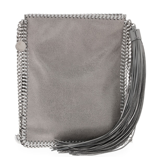 Stella McCartney 'Falabella' Chain Trim Shoulder Bag with Long Fringe Tassel