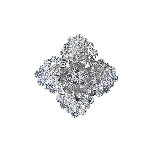 5001 Silver Rhinestone Brooch