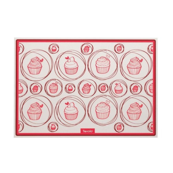 Tovolo Jelly Roll White/Red Silicone Baking Mat