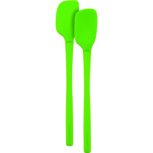 Tovolo Flex-Core All Silicone Spring Green Mini Spatula and Spoonula (Set of 2) 19242678
