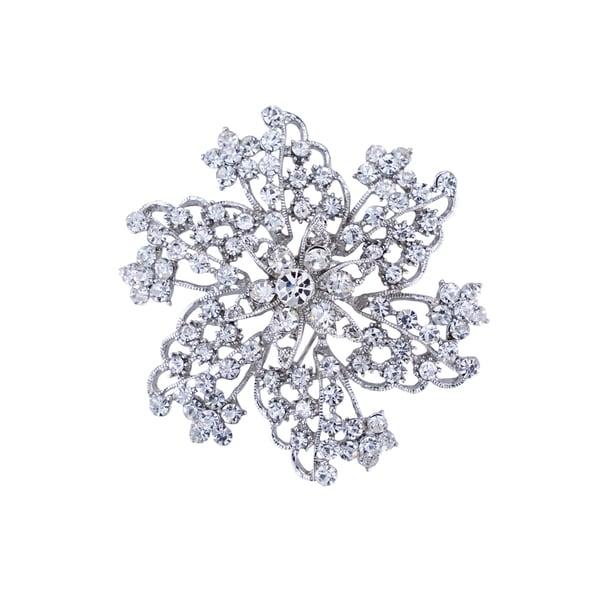 5012 Silver Rhinestone Brooch