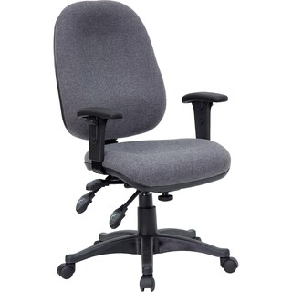 Praug Grey Fabric Multifunctional Adjustable Swivel Executive Office Chair