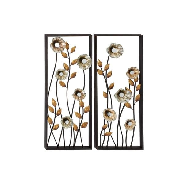 Gold Metal Wall Decoration (Set of 2)