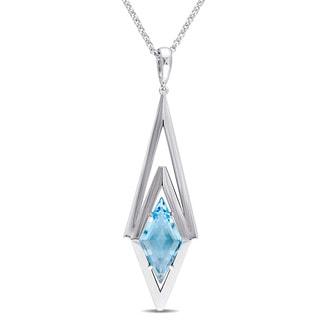 Versace 19.69 Abbigliamento Sportivo SRL Blue Topaz Prism Drop Necklace in Sterling Silver