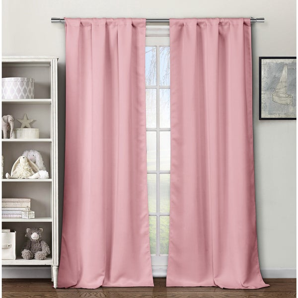 Multicolor Polyester Solid Blackout Pole Top Curtain Panel Pair (As Is Item)