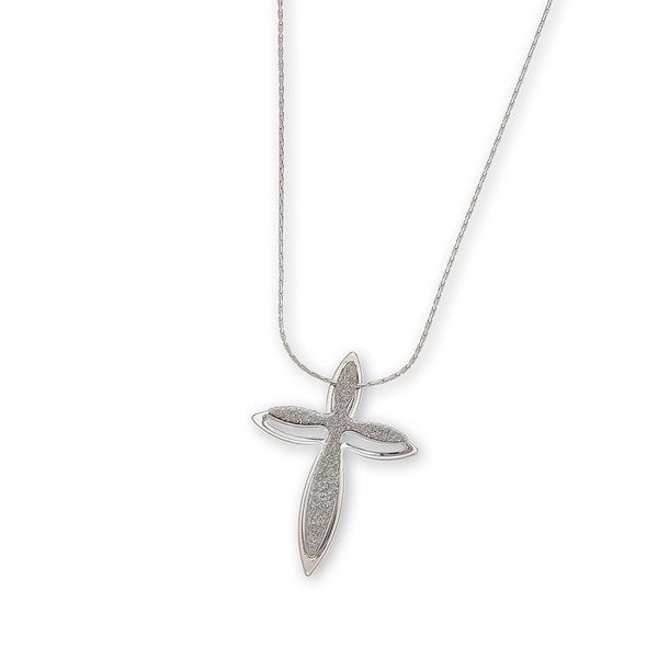Bling Silver Cross Pendant