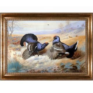 Archibald Thorburn 'Blackcocks at The Lek' 1901 Hand Painted Framed Canvas Art