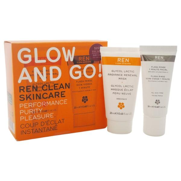 REN Glow and Go! 2-piece Kit