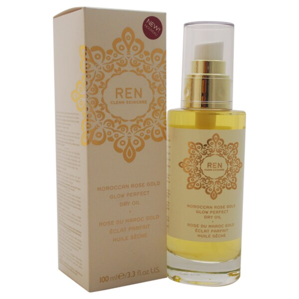 REN Moroccan Rose Gold Glow Perfect 3.3-ounce Dry Oil