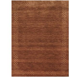 Herat Oriental Indo Hand-loomed Tribal Gabbeh Brown Wool Rug (8' x 10')