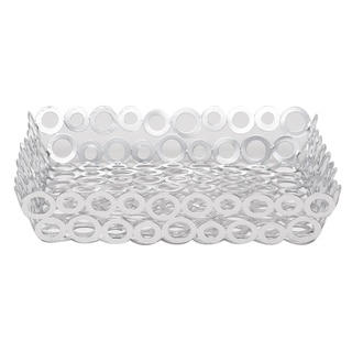Red Vanilla Silver Rings 12-inch x 2.5-inch Square Baskets (Set of 2)