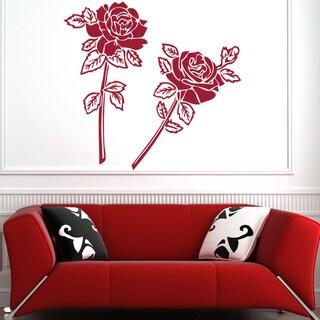 Stick & Apply 'Rose Couple' Vinyl Sticker Wall Art