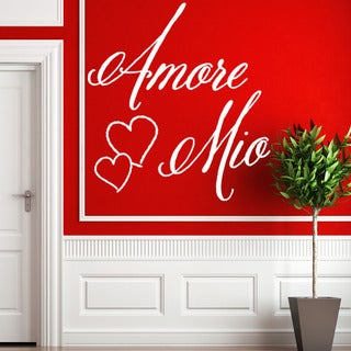 Style and Apply Amore Mio Vinyl Wall Decal