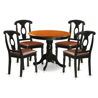 Antique 5-piece Dining Set Including 4 Dining Chairs in Black Finish