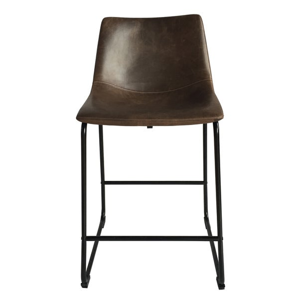 Christopher Knight Home Cedric Faux Leather Counter Stool