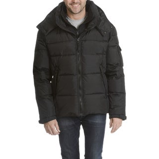 S13 Men's Black Quilted Hooded Jacket