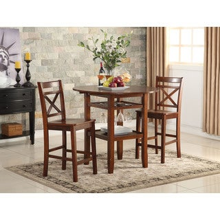 Tartys Cherry Wooden Counter Height Table