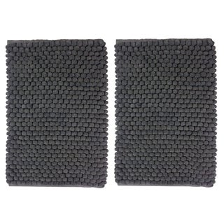 Celebration Cotton/Polyester 2-piece Popcorn-loop Bath Rug Set