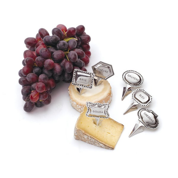 Hip Vintage Metal Tags Cheese Marker Set