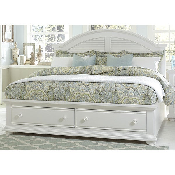 Summer House Oyster White Cottage Storage Bed 18901077