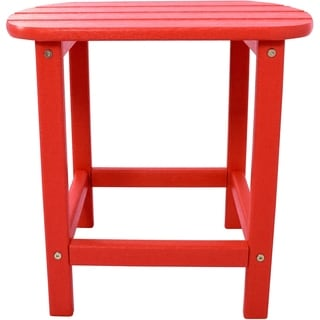 Hanover Outdoor Sunset Red All-weather Side Table