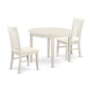 3-piece Table and Chair Set For 2-dinette Table and 2 Kitchen Chairs