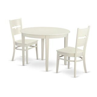 3-piece Small Kitchen Table Set with Dining Table and 2 Dinette Chairs