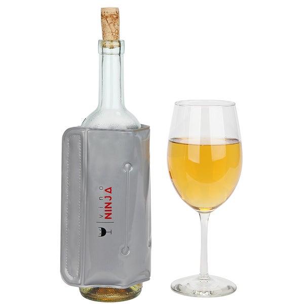 VinoNinja Silver Plastic Wine Cooling Wrap
