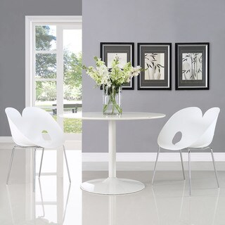 Envelope White Steel Chrome Dining Chairs (Set of 2)