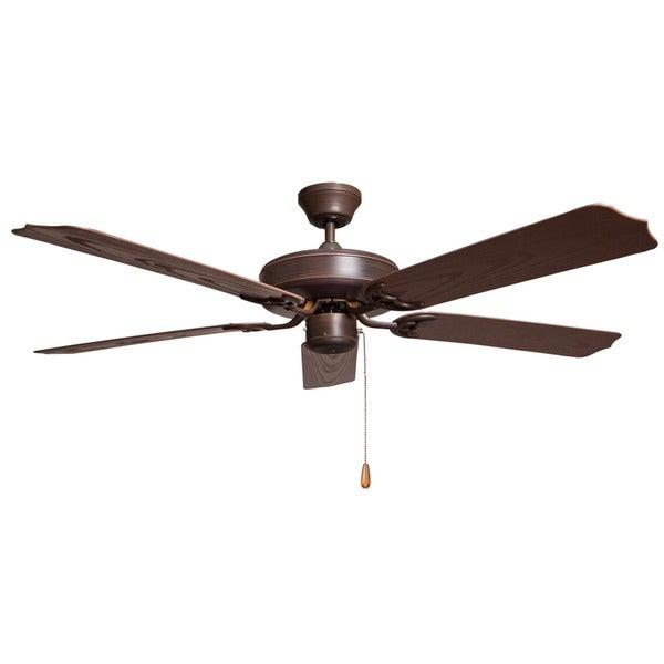 Outdoor Oil Rubbed Bronze Finish Patio Fan with 5-blade Design and Three Motor Speeds