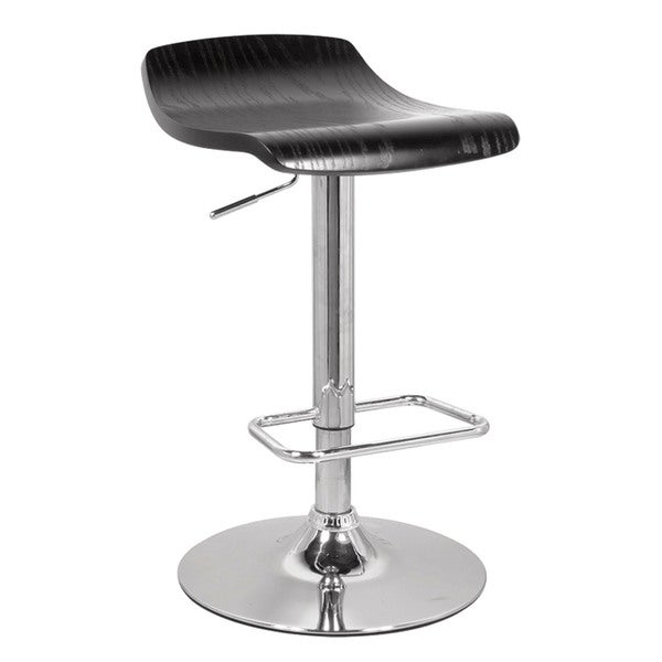 Black & Chrome Holt Adjustable Stool w/Swivel