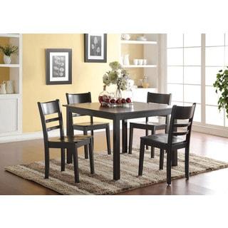 Veles Black 5-Piece Dining Set