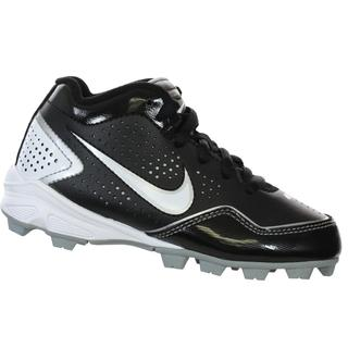 Nike MVP Keystone White and Black Synthetic Low Baseball Cleats
