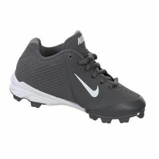 Nike Boy's Vapor Keystone Graphite/White Low-cut Molded Baseball Cleats