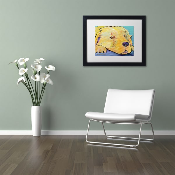 Pat Saunders-White 'Baby' Matted Framed Art