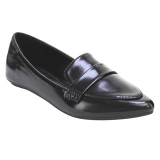 Women's Faux Leather Slip-on Casual Low-heel Loafer Flats