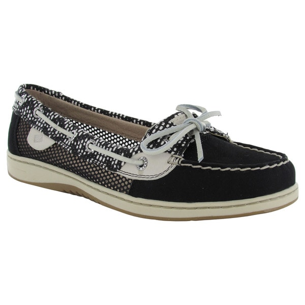 Sperry Womens Angelfish Tribal Mesh Moc Slip On Lace Up Boat Shoes