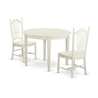3-piece Kitchen Nook Dining Set with Table and 2 Dining Chairs