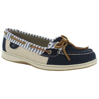 Sperry Womens Angelfish Stripe Moc Slip On Lace Up Boat Shoes
