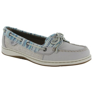 Sperry Womens Angelfish Rafia Moc Slip On Lace Up Boat Shoes